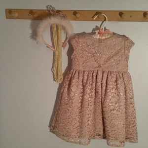 Mia & Mimi Dresses - Mia & Mimi Size 2T Rose Colored Lace Formal Dress